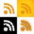 Bubble RSS feed icon — Stock Photo