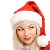 Christmas girl. Beauty, make up. — Stock Photo
