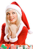 Santa Claus helper girl — Stock Photo