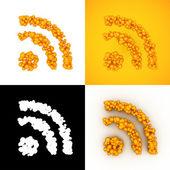 Bubbla Rss-feed icon — Stockfoto