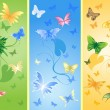 Background with butterfly — Stock Vector #1317483