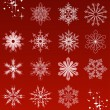 20 beautiful cold crystal snowflakes — Stock Vector #1369986