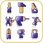 narzędzia zestaw - wektor — Wektor stockowy