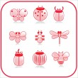 Royalty-Free Stock Imagem Vetorial: Vector set of Insect