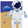 Astronaut Vector Illustration - Stock Vector