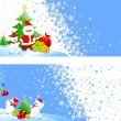Vector Christmas Banners — Stock Vector