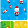 Set elements for Christmas design — Stock Vector
