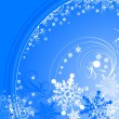 Blue winter background with snowflakes — Vector de stock