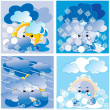 Stock Vector: Weather winter