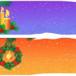 Two cute Christmas banners — Stock Vector