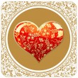 Royalty-Free Stock ベクターイメージ: Valentine`s day gold card