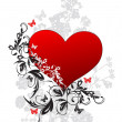 Valentines Day floral background - Image vectorielle