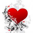 día de San Valentín fondo floral — Vector de stock
