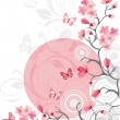 Stock Vector: Cherry blossom background
