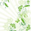 Stock Vector: Vector illustration of green floral