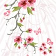 Cherry blossom background — Vector de stock