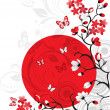 Cherry blossom background - Vektorgrafik