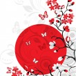 Cherry blossom background - Image vectorielle