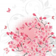Cherry blossom background — Stock Vector #1379198