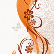 Abstract floral background, vector - Stock Vector