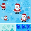 Christmas background with santa claus — Imagen vectorial