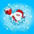 Stock Vector: Christmas background with Santa Claus