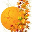Autumn floral background — Stock Vector #1379378