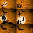 Set of  Halloween image — Stock Vector
