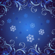 Abstract christmas dark blue background — Image vectorielle