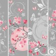 Cherry blossom set - Stock Vector