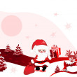Christmas design with santa claus — Stock Vector