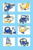 Cartoon vehicles vector — Vetorial Stock