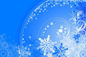 Blue winter background with snowflakes — Stock Vector