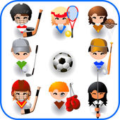 Collection of sports vector — Stock Vector