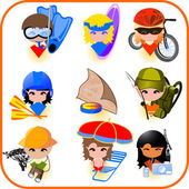 Travel icons set. Vector illustration — Stock Vector