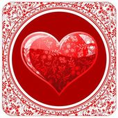 Valentine`s day red card — Stock Vector