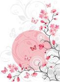 Cherry blossom background — Stock Vector