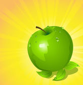 青苹果矢量图 — 图库矢量图片