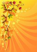 осенняя листва на фоне солнечной — Cтоковый вектор