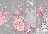Cherry blossom set — Stock Vector