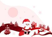 рождественский дизайн с санта-клауса — Cтоковый вектор