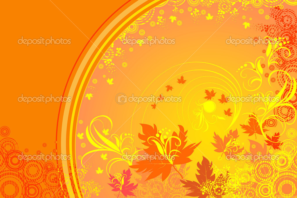 Floral abstract vector background  Stock Vector #1378681