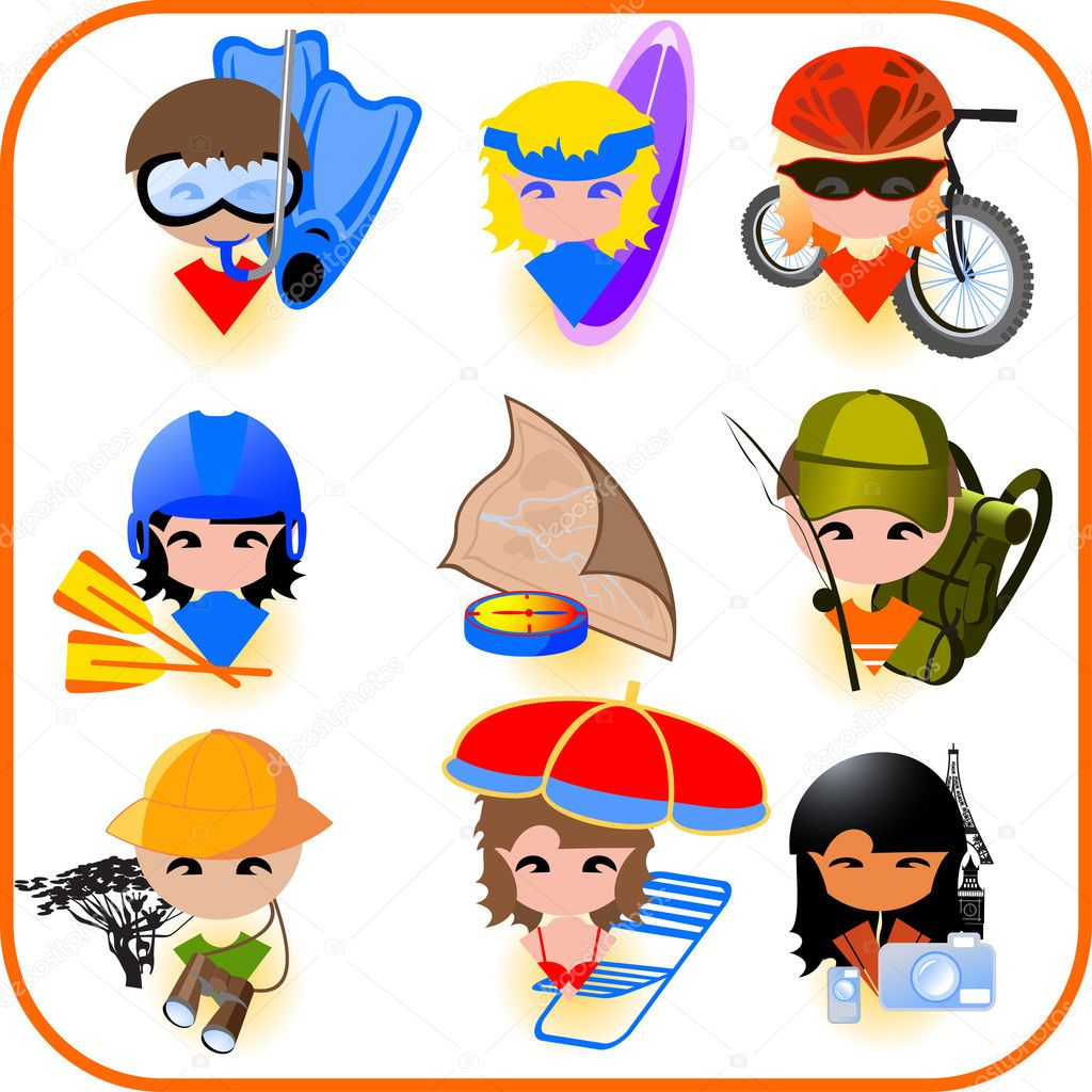 Travel icons set. Vector illustration — Stock Vector #1378834