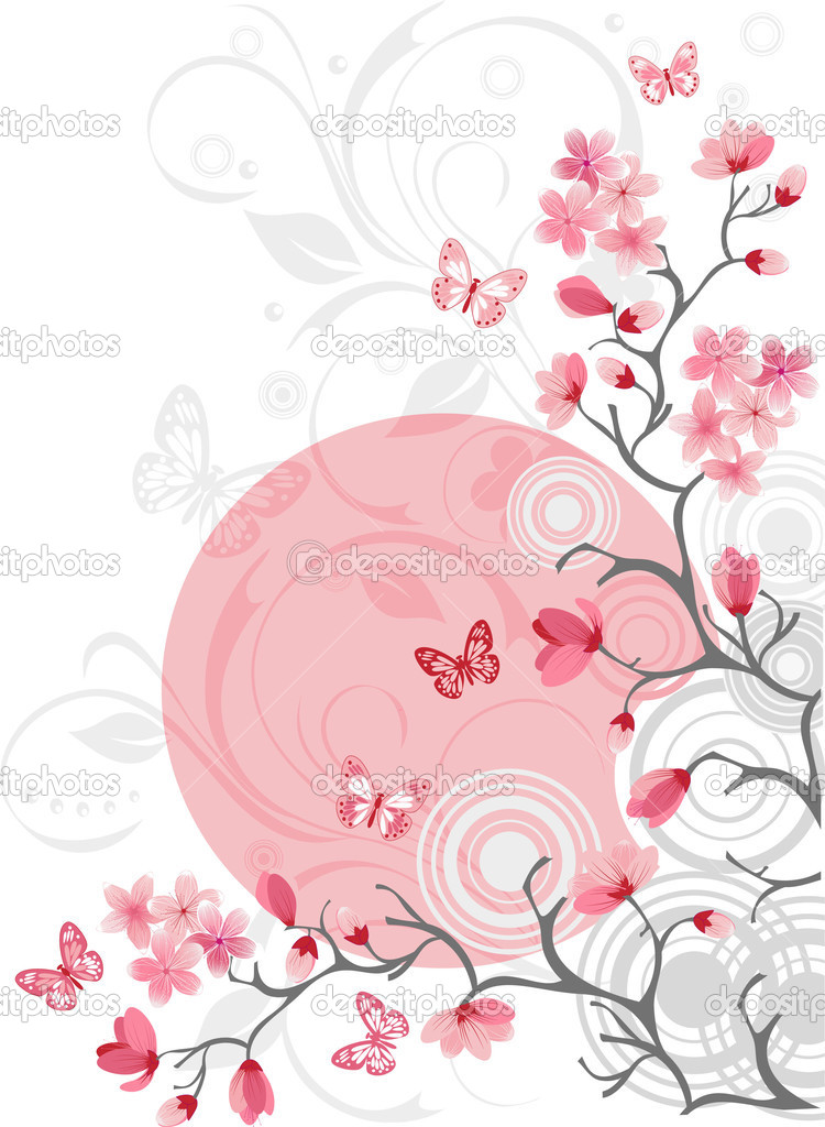 Cherry blossom background  Stock Vector #1378987