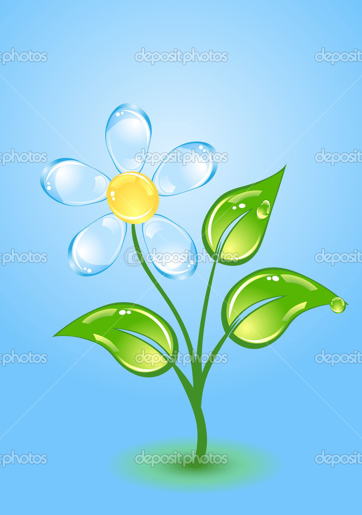 Beautiful gloss flower — Imagen vectorial #1379075