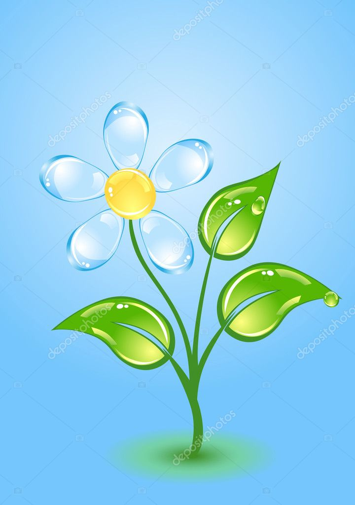 Beautiful gloss flower — Stock Vector #1379075