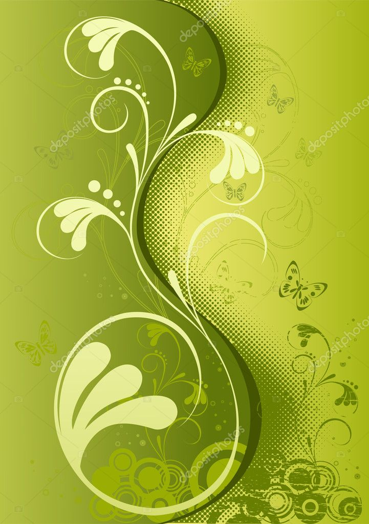 Abstract floral  background  Stock Vector #1379186