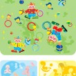 Circus and childhood — Stock Vector