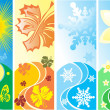 Royalty-Free Stock Vector Image: Four season vector