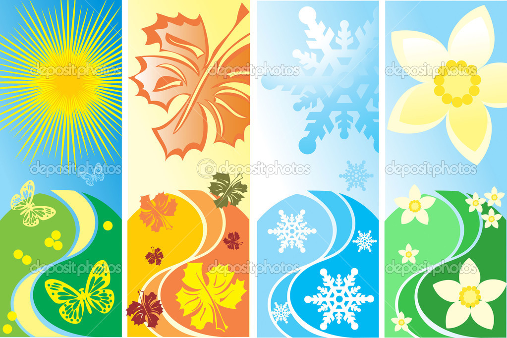  four season vector  Stock Vector #1410942